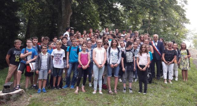 Visite de la mairie par les élèves de St Paul