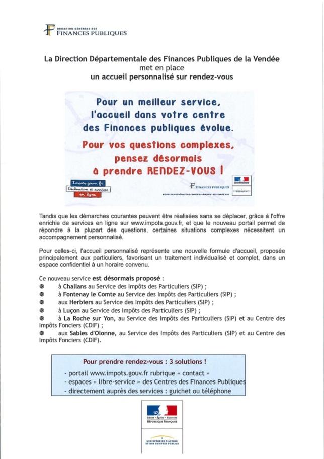 Accueil personnalisé - Direction Départementale des Finances Publiques