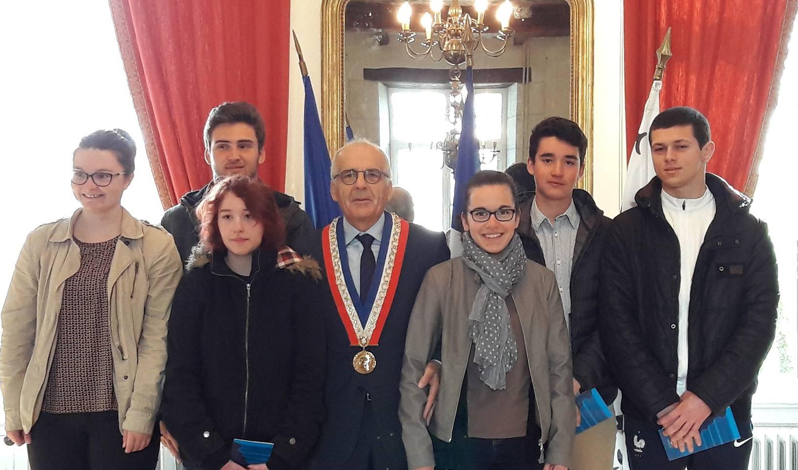 Cérémonie de citoyenneté à Sainte Hermine.