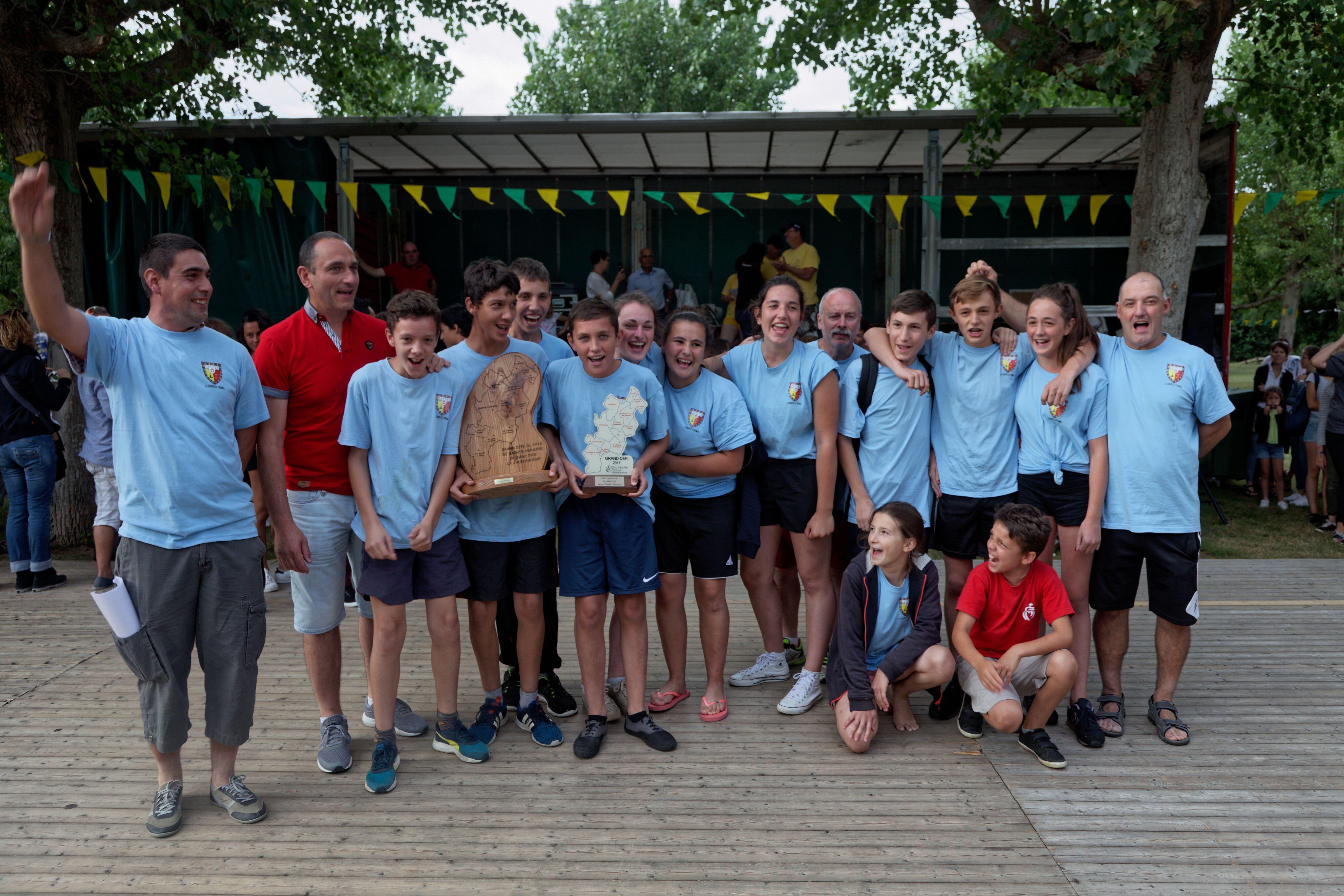 L'équipe gagnante de la Chapelle Thémer