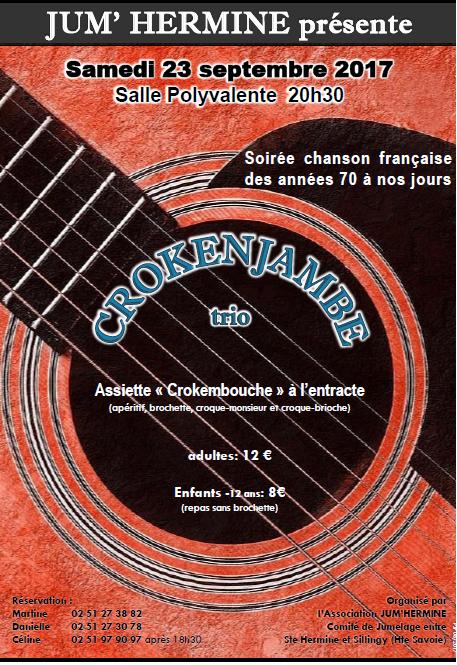Soirée chansons Françaises avec Jum'Hermine