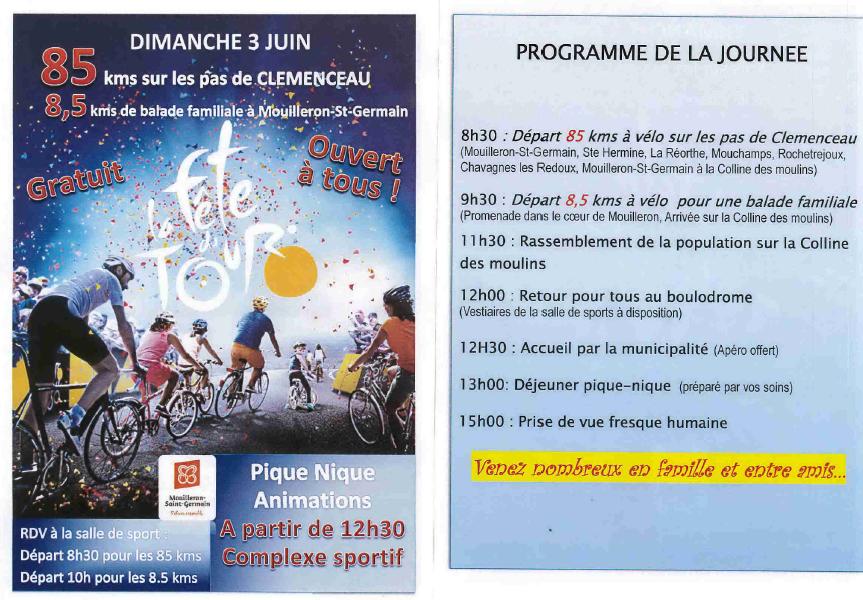 Information : Message de la commune de Mouilleron Saint Germain