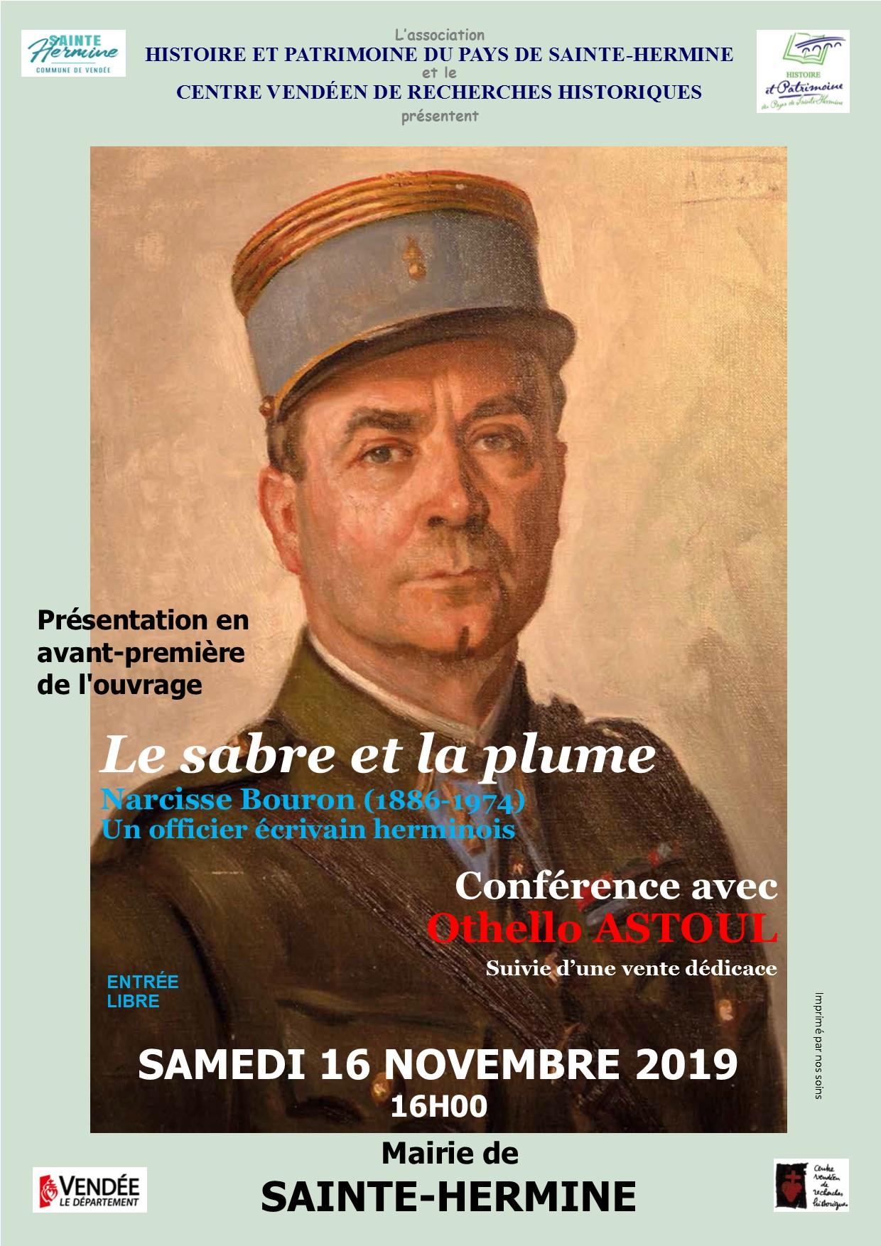 """Conférence """"Le sabre et la plume"""""""
