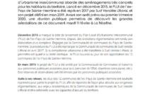 Concertation autour du PLUI DE L'EX-PAYS DE SAINTE-HERMINE