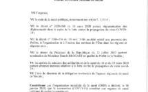Arrêté préfectoral n°20CAB/254 portant interdiction temporaire des activités extérieures et de la vente à emporter la nuit dans le département de la Vendée