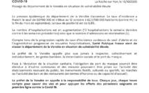 Communiqué de Presse: Passage du département de la Vendée en situation de vulnérabilité élevée